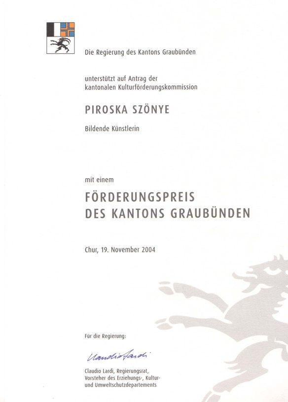 Auszeichnung Kanton Graubünden