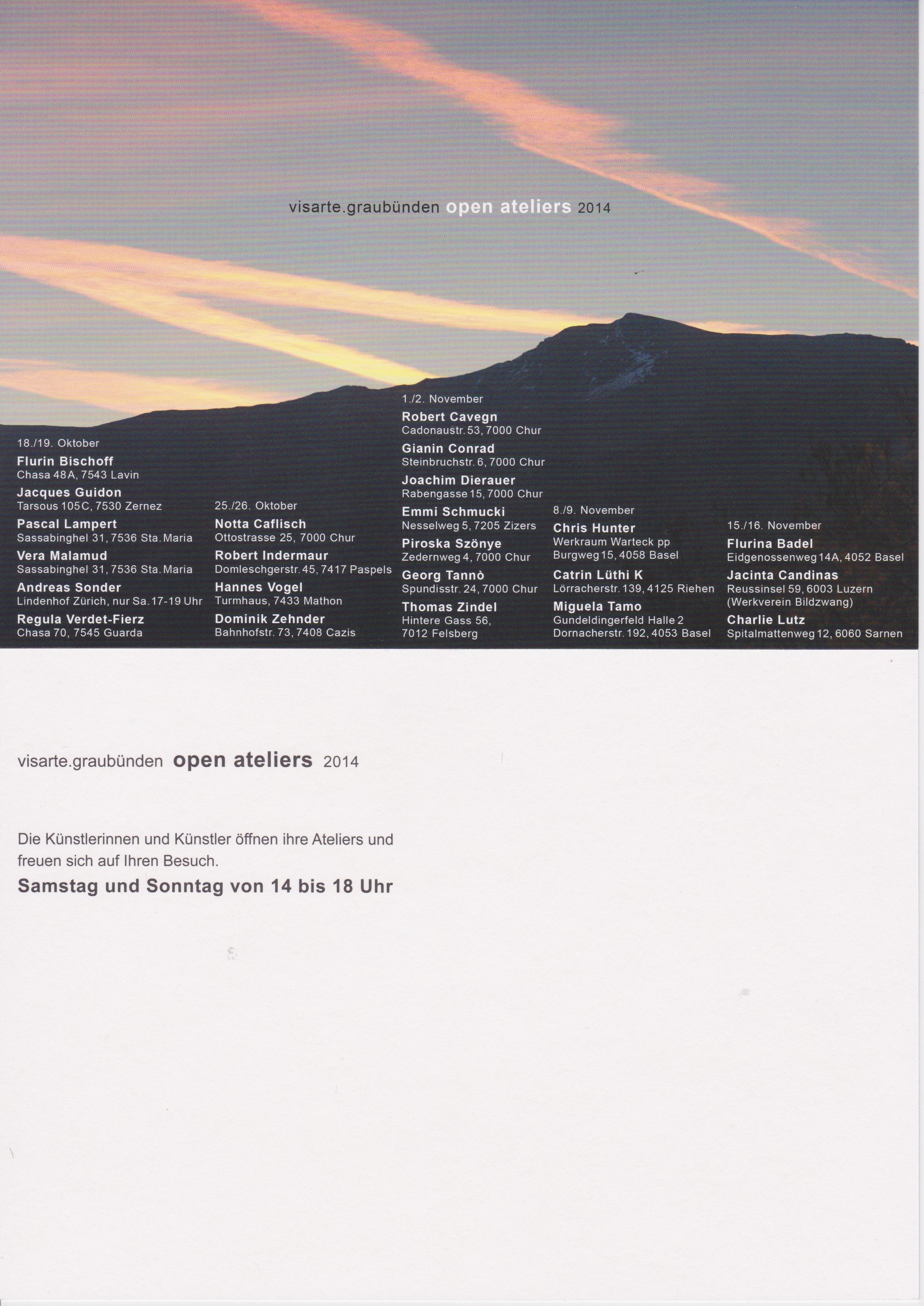 open atelier 2014 Chur
