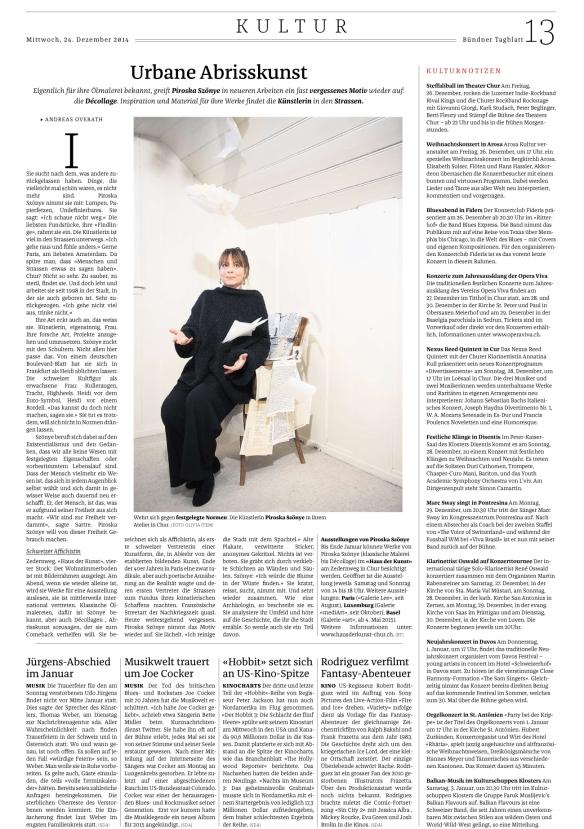 BŸndner Tagblatt, 24.12.2014